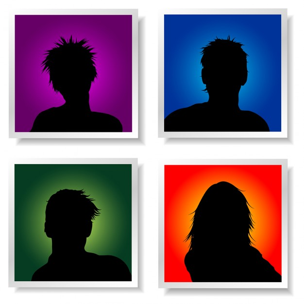 626x626 Avatar Silhouette Collection Vector Free Download