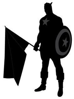 236x315 Captain America Silhouette Wall Art Super Heroavengers