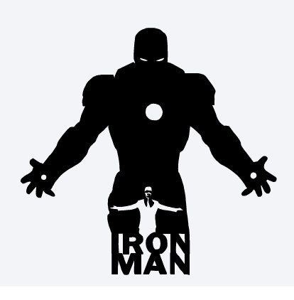 414x422 Iron Man Vinyl Decal Avengers Marvel Comics Tony Stark (7.00 Usd