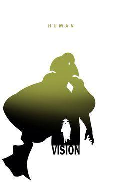 236x364 Superhero Silhouette Vision Character Shadow