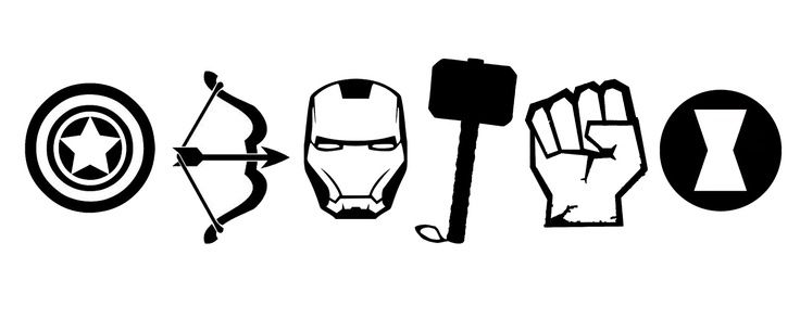 736x306 Silhouettes Avengers