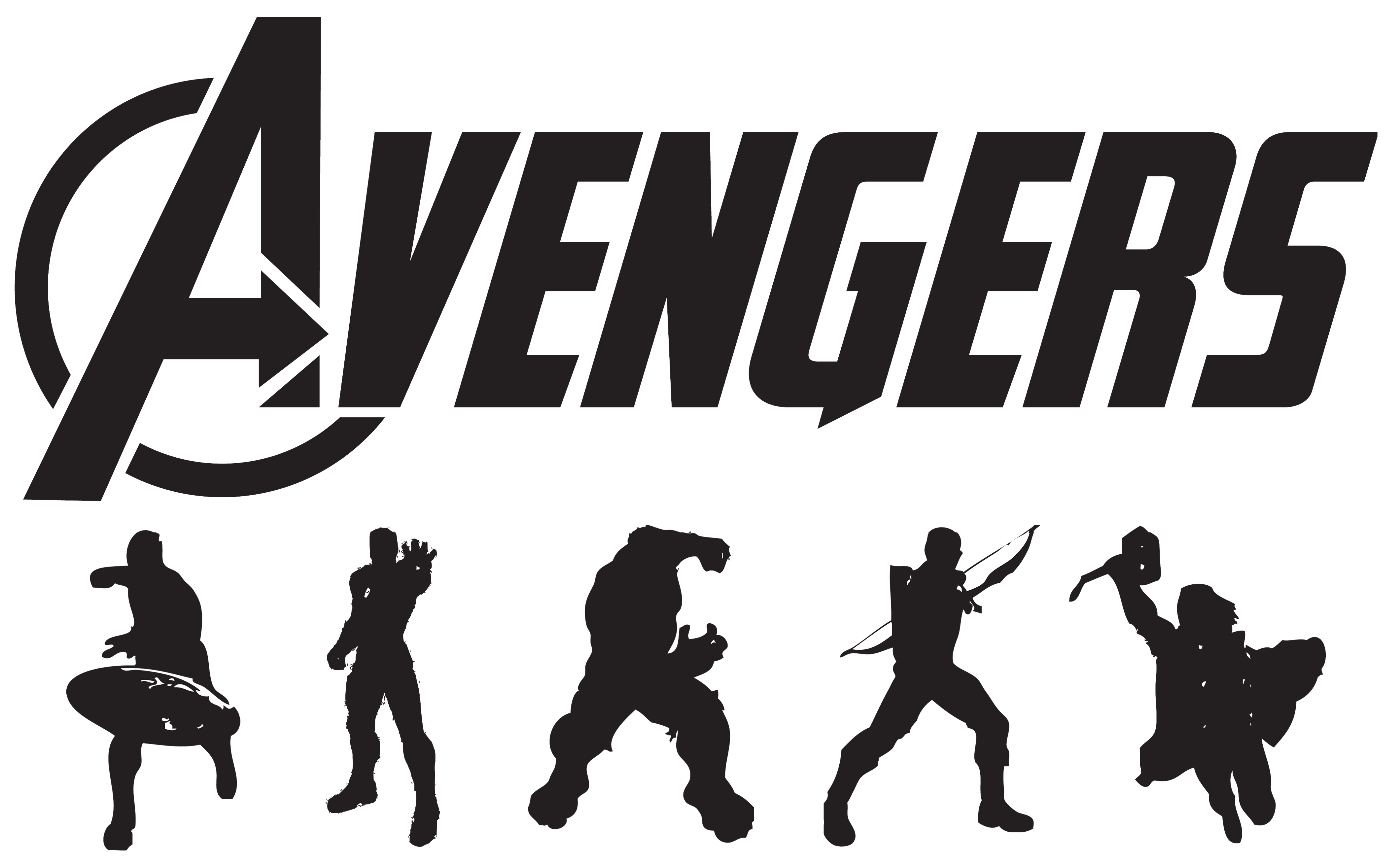 4240x2626 Submitted By Modsoft Avengers Art Silhouettes