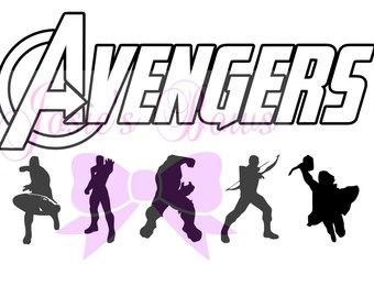 340x270 Avengers Silhouette Etsy
