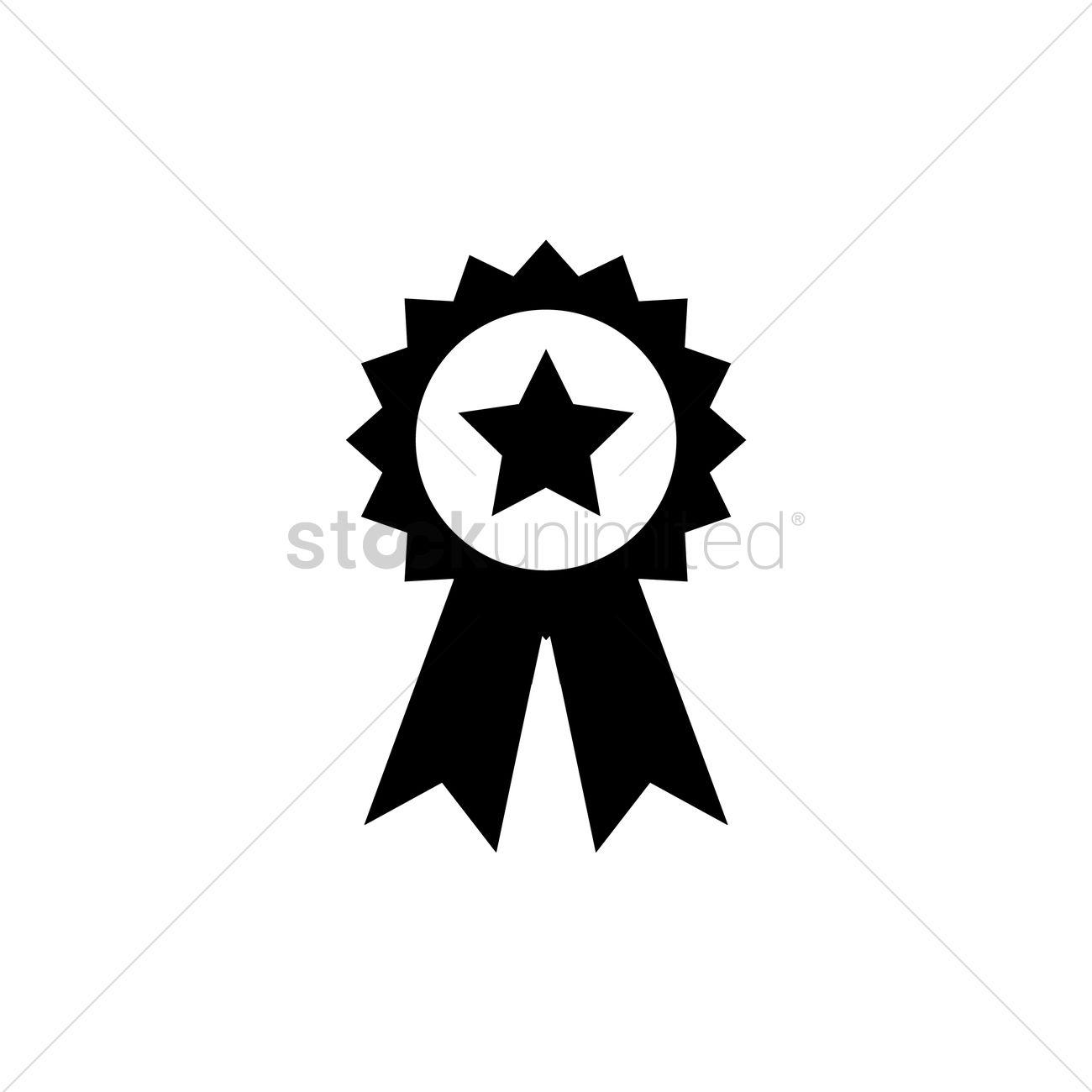 1300x1300 Award Ribbon Vector Image