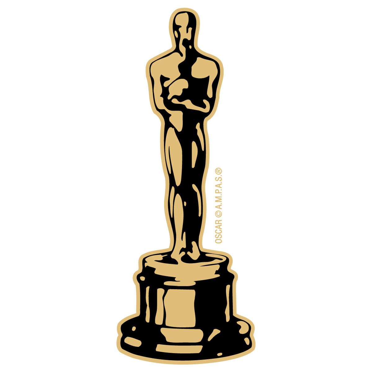 1200x1200 Oscar Statuette Award Trophy Vector Art Free Vector Silhouette