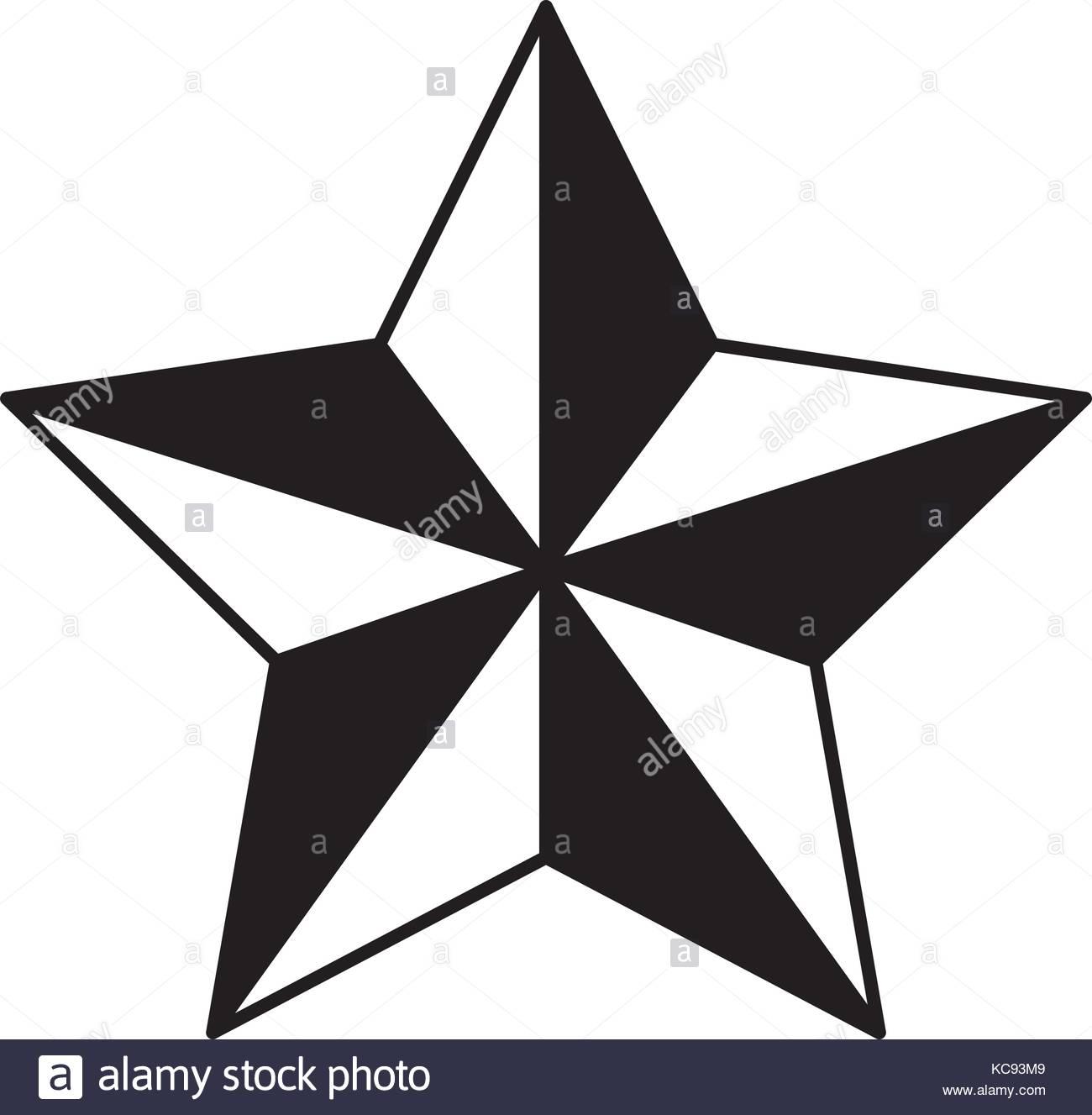 1300x1327 Star Award Flat Icon Black Silhouette Stock Vector Art