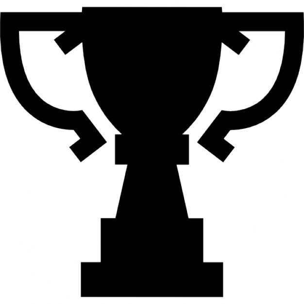 626x626 Award Trophy Cup Silhouette Of Big Size Icons Free Download