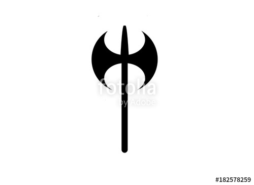 500x364 Double Sided Ax Silhouette Stock Image And Royalty Free Vector
