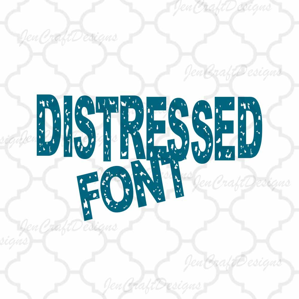 1000x1000 Distressed Font Alphabet Svg Eps Dxf Cut Files (Not Install Fonts