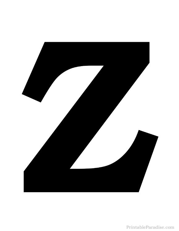580x751 Printable Letter Z Silhouette