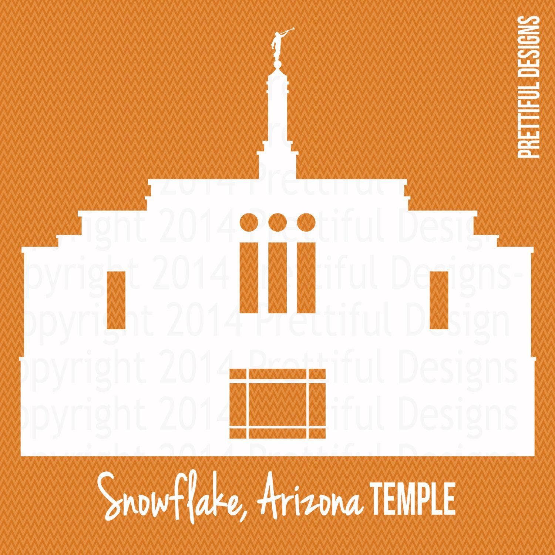 1500x1500 Snowflake Arizona Temple Silhouette Lds Mormon Clip Art Png Eps
