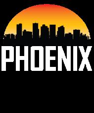 190x228 Sunset Skyline Silhouette Of Phoenix Az By Awesome Shirts