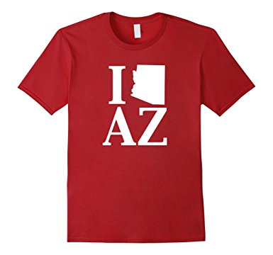 385x360 I Heart Love Az Arizona State Silhouette Outline T