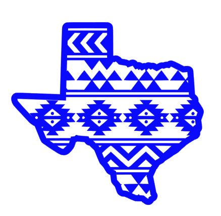 438x429 Aztec Texas Vinyl Decal By Southsouldesigns On Etsy Silhouette