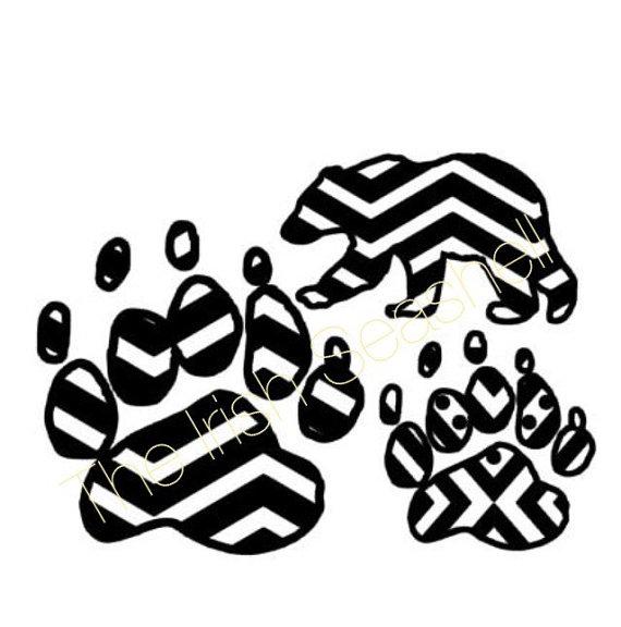 570x576 Aztec Tribal Chevron Bear Paw Claw Svg Dxf Design