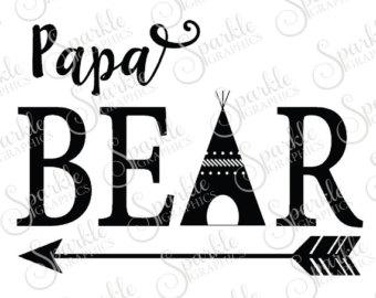 340x270 Mama Bear Mama Baby Family Bear Family Bear Svg Aztec Teepee