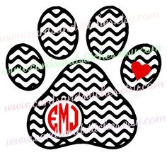 236x219 Paw Print Monogram Decal Paw Print Decal Aztec By Jamsvinyldesigns