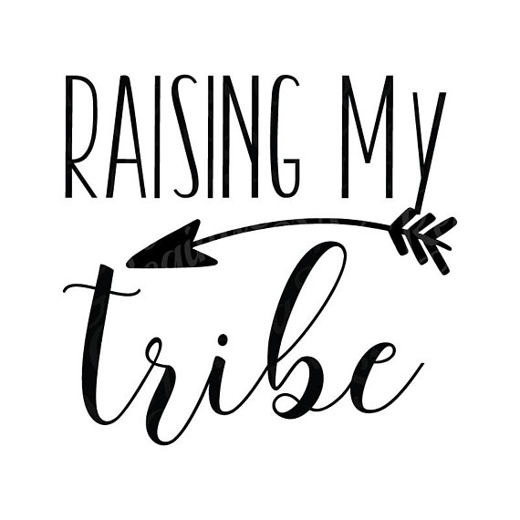 570x570 Raising My Tribe Svg Dxf Png Eps Cut File Mama Mom Mother's Day