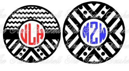 425x234 Aztec Chevron Tribal Monogram Circle For Silhouette Cameo User