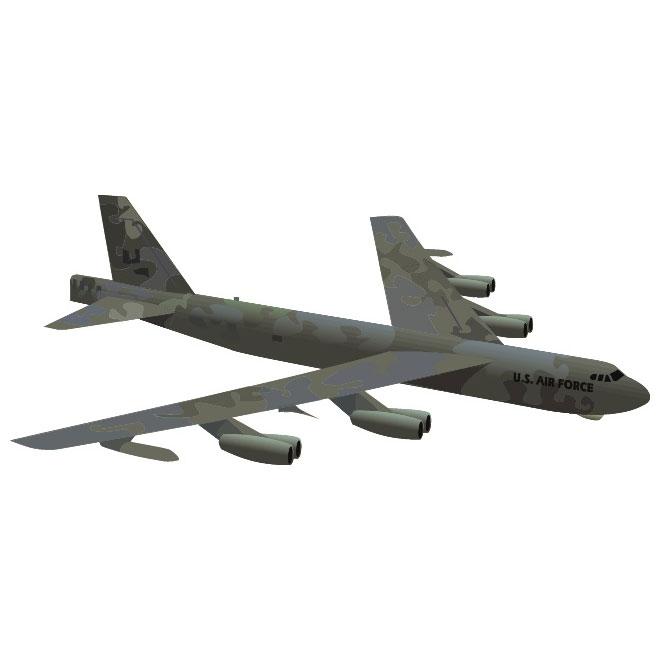 660x660 Military Aircraft B 52 Vector