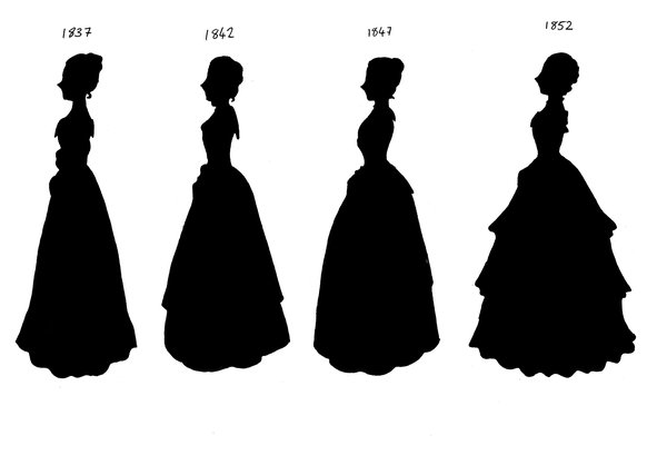 600x427 Victorian Silhouettes 1837 52 By Lady Of Crow