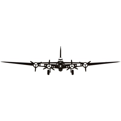 400x400 B 17 Flying Fortress Silhouette Aircraft Metal Sign Posters