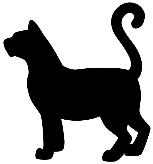 600x643 Simple Cat Silhouette Karen B. Jones