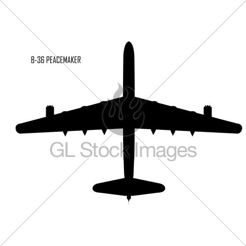 500x500 Convair B 36 Peacemaker Silhouette Gl Stock Images