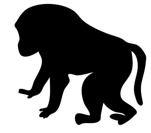 500x440 Baboon Vector Silhouette Public Domain Vectors