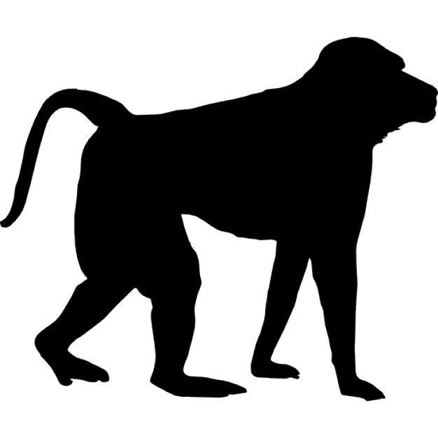 626x626 Monkey Silhoutte