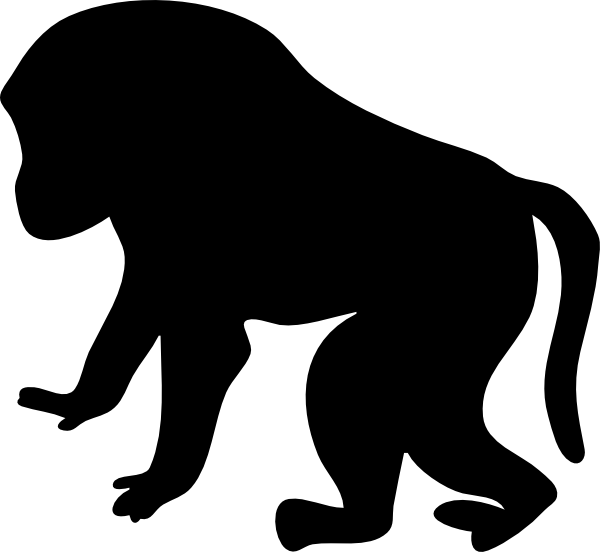 600x552 Baboon Silhouette Clip Art