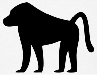 190x148 Baboon Silhouette By Azza1070 Spreadshirt
