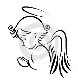300x316 Anjel Sa Modlia Siluetu Viery A Vychytavky