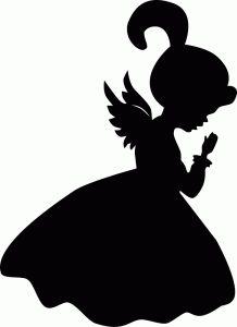218x300 Praying Angel Silhouette Clip Art