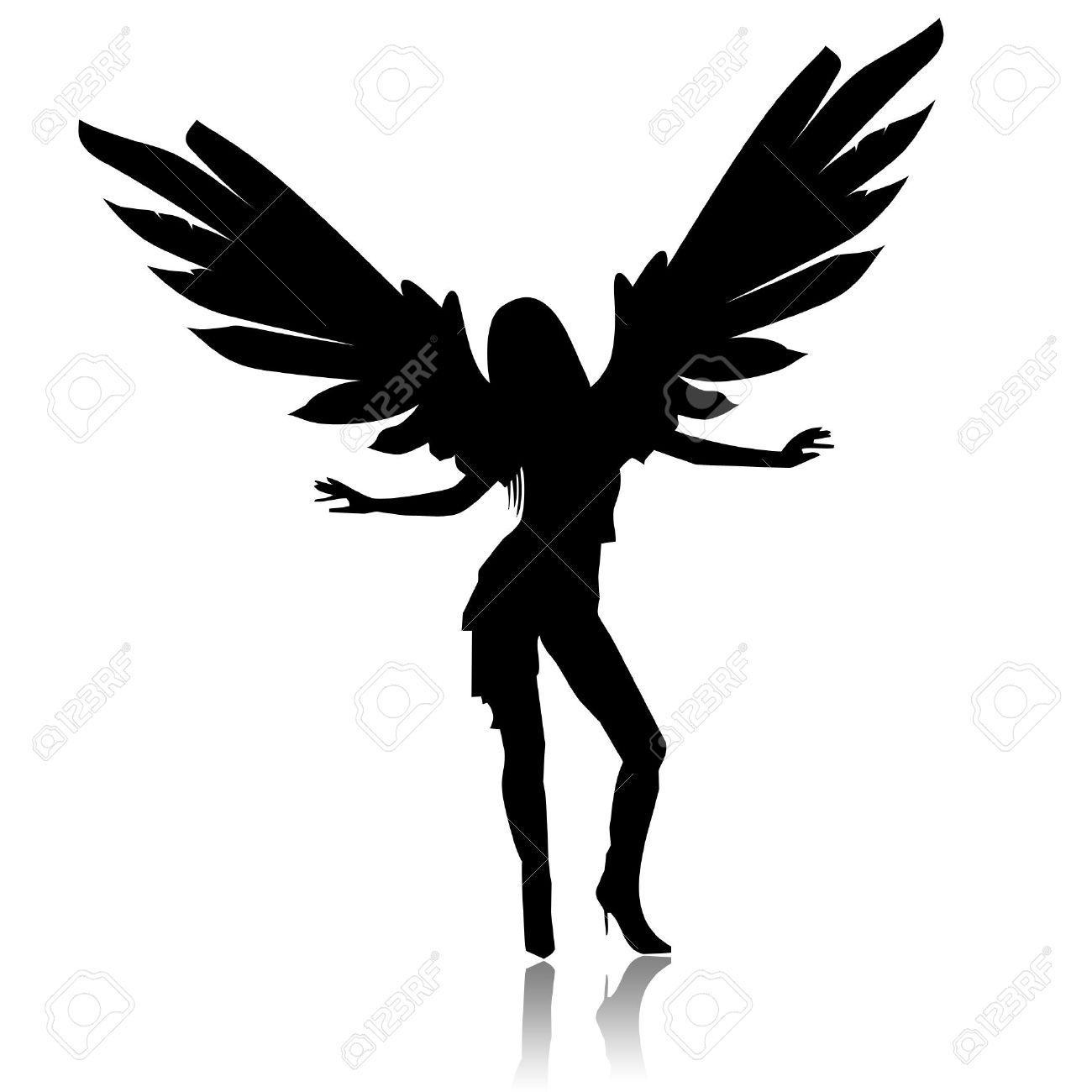 1300x1300 Angel Black And White Gallery Images)
