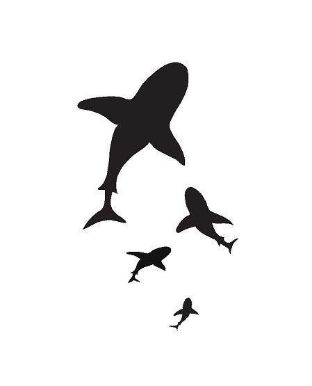 449x555 Baby Angel Silhouette Shark Silhouette Nautical Amp Ocean Life