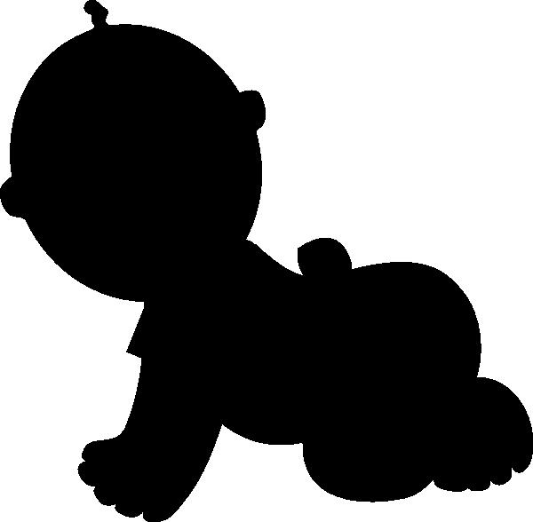 600x588 Baby Silhouette Clip Art