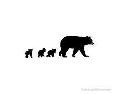 236x194 Bear Silhouette Family Portrait, Build Your Own Artistic