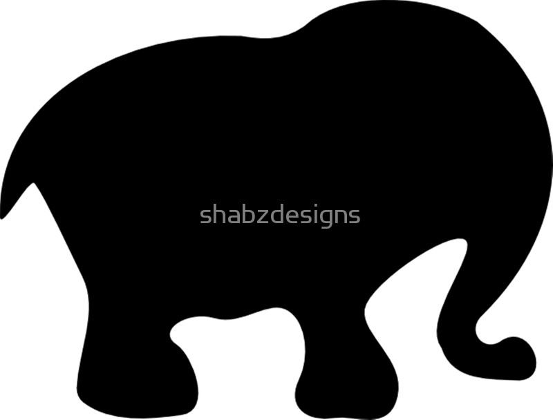 800x608 Cute Baby Elephant Silhouette Framed Prints By Shabzdesigns