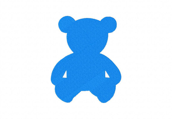 570x396 Instant Download Teddy Bear Silhouette Machine Embroidery