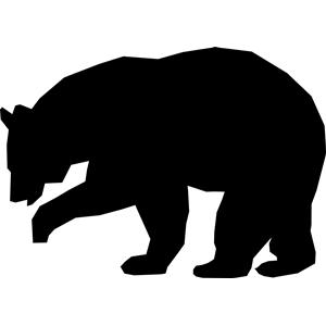 300x300 Simple Black Bear Silhouettevinyl Bears, Cricut