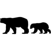 200x200 Mama Bear Kiss Baby Bear Silhouette