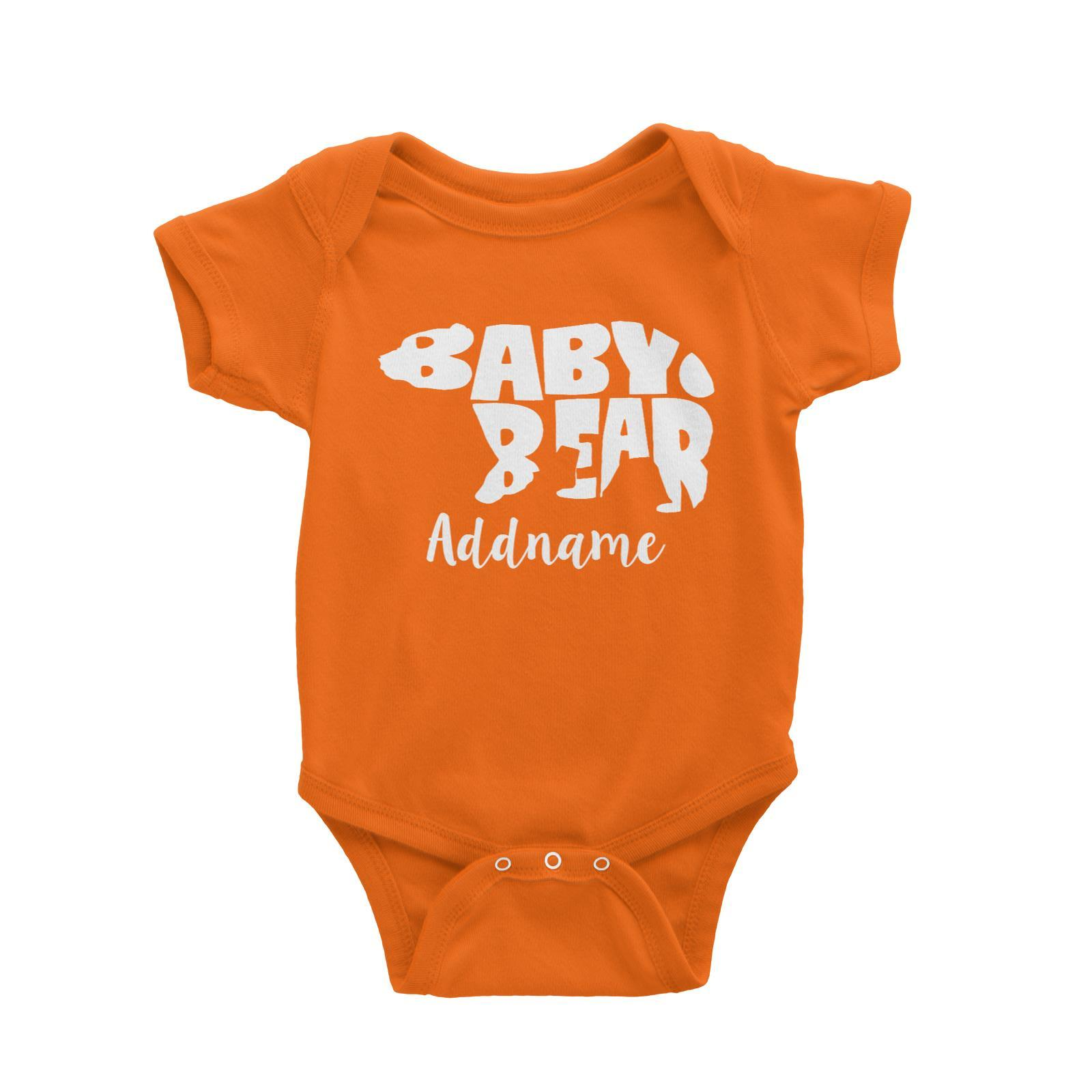 1600x1600 Baby Bear Silhouette Addname Baby Romper Matching Family