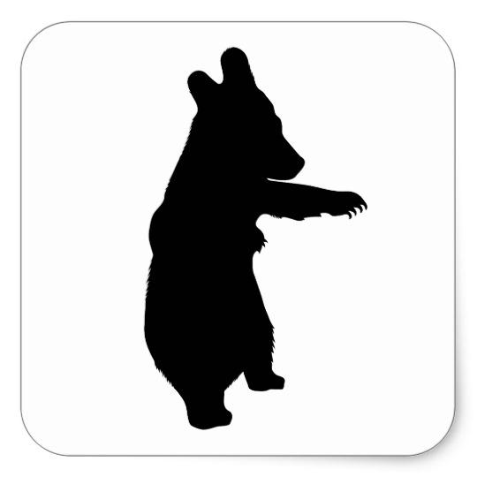 540x540 Baby Bear Silhouette Square Sticker