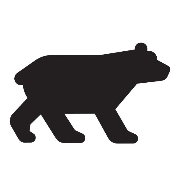 600x600 Bear Black Clip Art