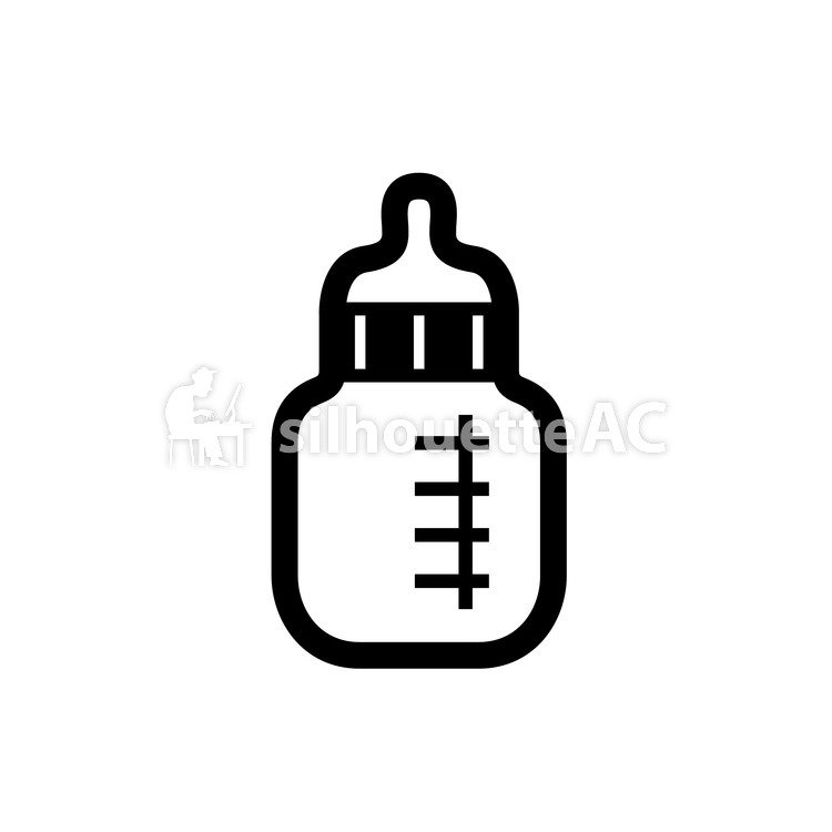 750x750 Free Silhouette Vector Children, A Bottle