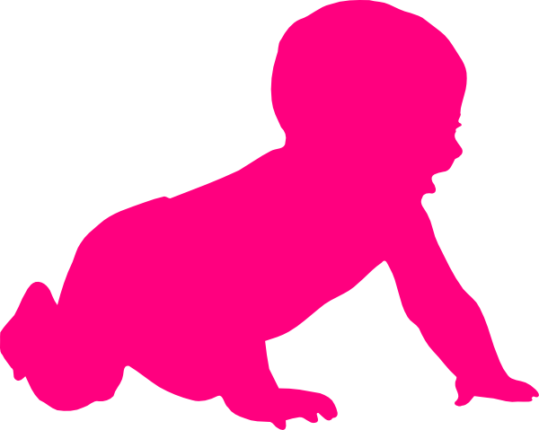 600x479 Baby Silhouette Clip Art