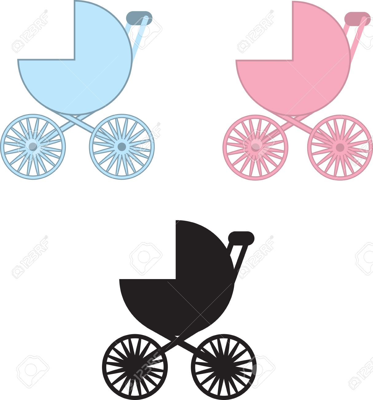 1214x1300 Blue Baby Carriage Clipart Silhouette