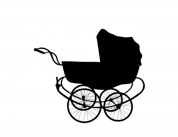 615x473 Vintage Baby Carriage Free Stock Photo