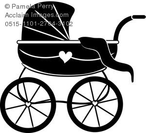 300x275 Art Illustration Of A Silhouette Of A Baby Carriage